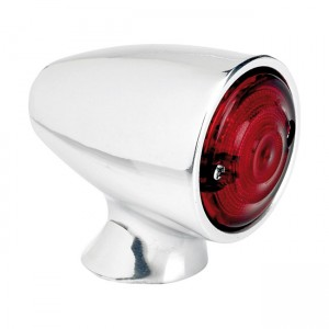 Fanalino posteriore LED Ø 25mm BILTWELL BULLET cromato