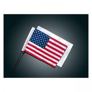 Coppia bandiere (Americana-Bianca) da antenna per Harley Davidson
