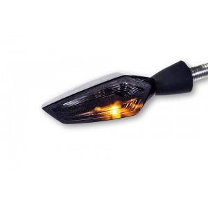 Freccia faro posteriore LED MOTOGADGET M-BLAZE EDGE destra cromata scura (1 pezzo)