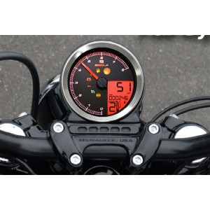 Strumento digitale Koso HD-01 per Harley Davidson 883 Sportster dal 2004 al 2013 cromato