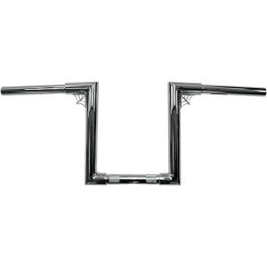 """Manubrio LA Choppers Old School Web Z a sezione variabile 1-1/4"""" (32mm) cromato"""