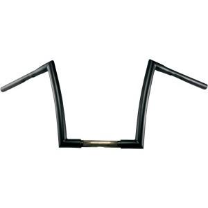 "Manubrio Todds Cycle Strip a sezione variabile 1-1/4"" (32mm) nero opaco per HD FLHR/FLST 99-19 e FLTR 99-13"
