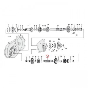Contralbero Andrews per Harley Davidson 4-SP Sportster XL 58-E85