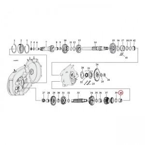 Cuscinetto contralbero Jims per Harley Davidson 4-SP Sportster XL(NU) 54-90