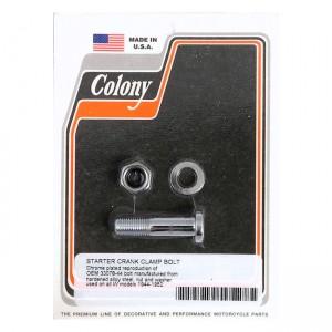 Kit montaggio braccio kickstarter Colony cromato per Harley Davidson WL 44-52, G 44-64, WLA(NU) L1942