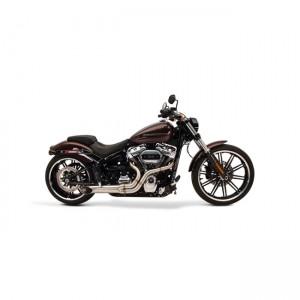Scarico completo 2in1 SuperTrapp BootLegger in acciaio inox specifico per Harley Davidson Softail dal 2007 al 2017