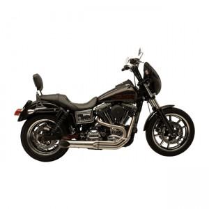 Scarico completo 2in1 SuperTrapp BootLegger in acciaio inox specifico per Harley Davidson Dyna dal 2006 al 2017