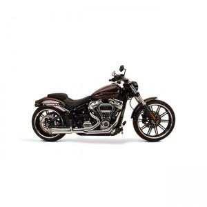Scarico completo 2in1 SuperTrapp FatShots in acciaio cromato specifico per Harley Davidson Softail 2018