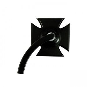 Specchio in alluminio nero anodizzato K-Tech mod.Maltese Cross lato sinistro