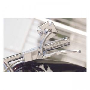 Specchio in alluminio billet K-Tech mod.Maltese Cross lato destro