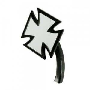 Specchio in alluminio nero anodizzato K-Tech mod.Maltese Cross lato destro