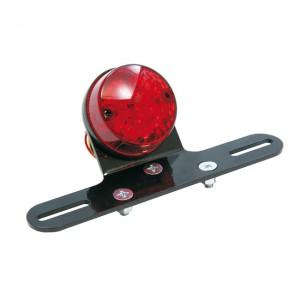 Faro posteriore a led di Easyriders Chopper Style con portatarga,lente rossa. Omologato E9