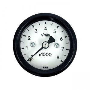 Contagiri elettronico MMB basic Ø 48 mm 8000 RPM nero/fondo bianco – luce bianca