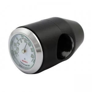"""Termometro nero fondo bianco Marlin's universale compatibile con manubri da 7/8"""" e 1"""""""