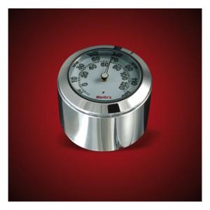 Termometro da stelo forcella cromato fondo bianco Marlin's mod.FSBC1 compatibile modelli Harley Davidson XL – FXR – DYNA