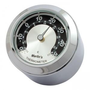 Termometro da stelo forcella cromato fondo argento/nero Marlin's mod.FSBC1 compatibile modelli Harley Davidson XL – FXR – DYNA