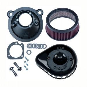 Filtro aria S&S mod. Mini Teardrop Stealth nero lucido per Harley Davidson Sportster XL