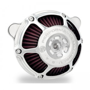 Filtro aria Performance Machine mod.Hp cromato per modelli Harley Davidson Softail – Touring