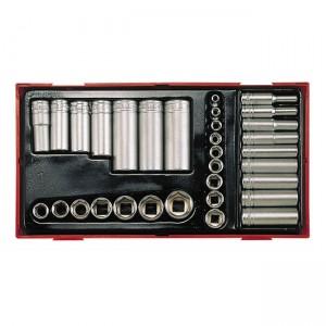 Set bussole per chiave a cricchetto di Teng Tools per bulloni in pollici