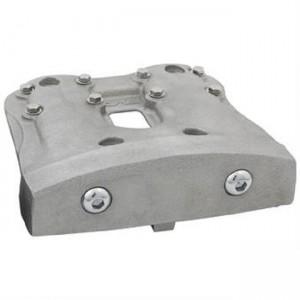 Copri testata Rocker stile Showel in acciaio grezzo