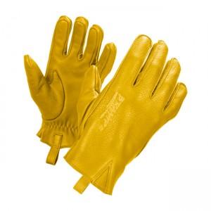 Guanti John Doe Ironhead in pelle gialla