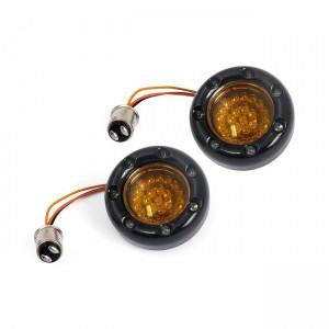 Frecce da incasso CUSTOM DYNAMICS per BULLET DYNAMIC RINGZ posteriore (doppio filamento) colore nero lucido con lente e led color ambra