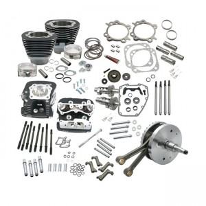 SES, kit di montaggio a caldo per Softail Twin Cam da 124 ''con testate. Nero, 01-06 Softail (NU)