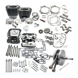 SES, kit di montaggio caldo per Softail Twin Cam da 124 ''con testate. Nero, 07-17 Softail (NU)