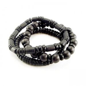 Set di bracciali di perline in legno AmiGaz