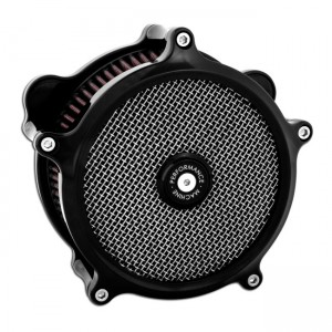 """Kit filtro aria PM Super Gas anodizzato nero, 18-20 Softail; 17-20 Touring (incl. induction spacer for 114"""" Touring models)"""