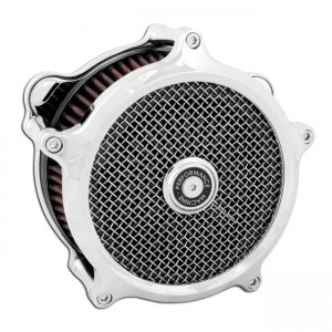 """Kit filtro aria PM Super Gas cromato, 18-20 Softail; 17-20 Touring (incl. induction spacer for 114"""" Touring models)"""