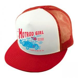 Cappellino trucker snapback Lucky 13 Hot Rod Girl rosso / bianco UNICA