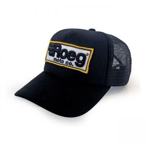 Cappellino trucker Roeg logo nero, UNICA REGOLABILE