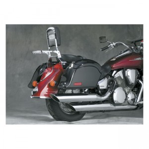 Punta parafango posteriore in fusione NC cromata, Honda: 2002-07 VTX1800R/S Retro (Specs 1-2-3)