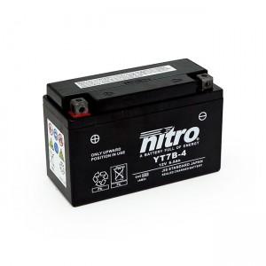 Batteria YT7B-4 AGM sigillata alla nitro, Kawasaki: 03-04 KLX 400R; 03-04 KLX 400SR Suzuki: 00-07 DR-Z 400; 00-07 DR-Z 400E; 00-14 DR-Z 400S; 2001 DR-Z 400SE; 05-09 DR-Z 400SM Yamaha: 03-13 YFZ 450