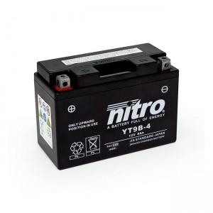 Batteria YT9B-4 AGM sigillata alla nitro, Yamaha: 2016 XP 400RA T-Max - Iron Max; 02-04 TT 600RE; 01-05 YZF 600R6; 06-13 MT-03 660; 96-98 SZR 660; 04-16 XT 660R; 04-16 XT 660X Supermoto; 08-16 XT 660Z Tenere; 11-16 XT 660ZA Tenere; 99-03 YZF 750R7 OW02