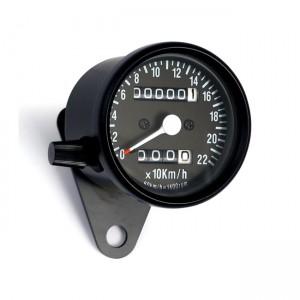 Mini speedo, 2: 1 kmh. con contachilometri parziale nero
