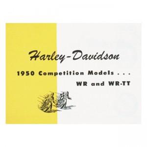 "CARTELLA SPECIFICHE 1950 WR, WR-TT, 1950 45"" WR, WR-TT COMPETITION MODELS"