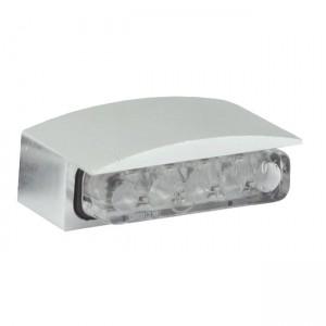 Luce targa Mini LED, alloggiamento argento