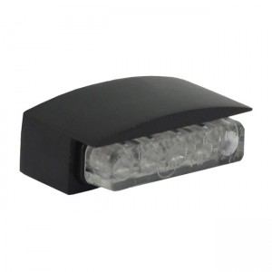 Luce targa Mini LED, alloggiamento nero