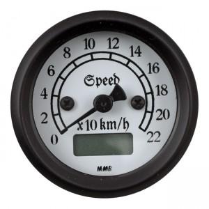 MMB 48mm Ultra Mini Speedo elettronico classico nero