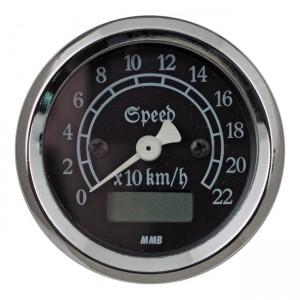 MMB 48mm Ultra Mini Speedo elettronico classico cromato