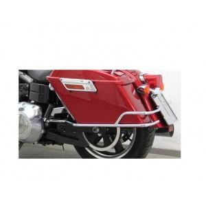 Protezioni borse laterali Harley Davidson Dyna Switchback cromate