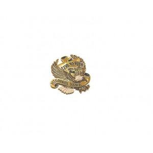 Emblema adesivo Live To Ride Ø 40mm oro