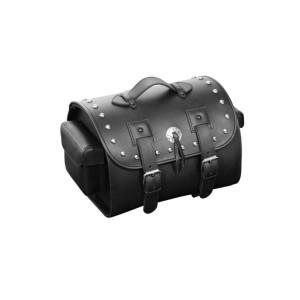 Bauletto posteriore 27 lt in vera pelle con borchie universale