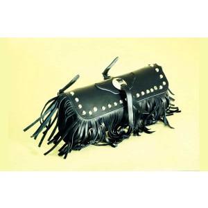 Barilotto 2,5 lt SPAAN Tool Bag in vera pelle con frange e borchie