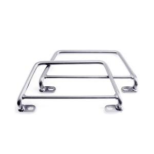 Supporti borse laterali in acciaio cromato per sistema KLICKFix per Harley Davidson Softail Fat Boy (00-05) – Softail Deluxe (05) – Softail FX (00-05)